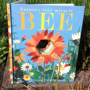 Bee: Nature's tiny miracle (peek-through board book by Patricia Hegarty) MADE FAR AWAY - jiminy eco-toys