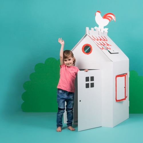 Big Cardboard Colour-In Playhouse - jiminy eco-toys