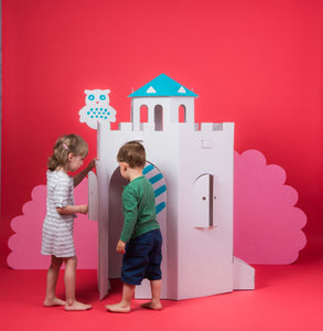 Big Colour-In Cardboard Castle - jiminy eco-toys