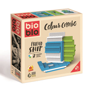 Bioblo eco rainbow construction blocks - 40 block boxes - jiminy eco-toys