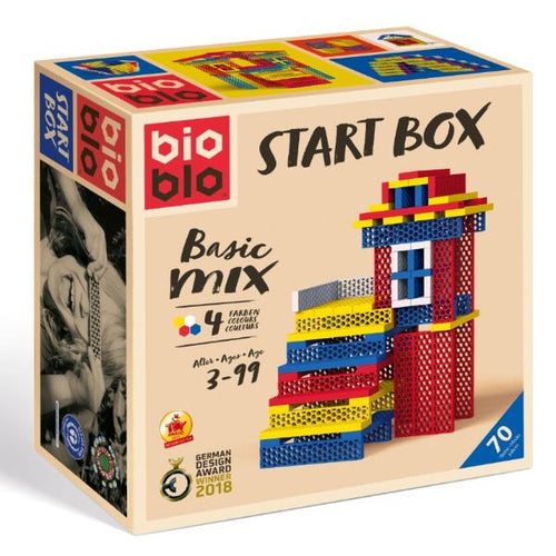 Bioblo eco rainbow construction blocks - 70 blocks 4 colours - Start Box Basic Mix - jiminy eco-toys