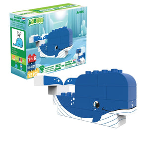 BiOBUDDi Arctic - Whale or Seal 2-in-1 - bioplastic building blocks from plants - jiminy eco-toys