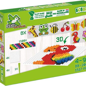BiOBUDDi Bioplastic Pixel and Create Starter Kit - jiminy eco-toys