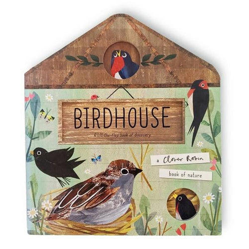 Bird House, a lift-the-flaps board book by Libby Walden MADE FAR AWAY - jiminy eco-toys