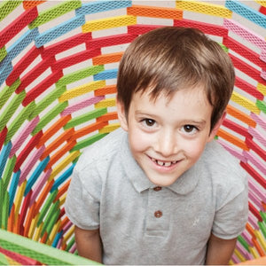 BORROW 300 Bioblo rainbow construction blocks for your party >> This is an item you borrow and return to us, not one you buy to keep << - jiminy eco-toys