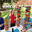 Load image into Gallery viewer, BORROW 300 Bioblo rainbow construction blocks for your party >> This is an item you borrow and return to us, not one you buy to keep << - jiminy eco-toys