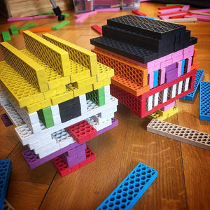 BORROW Bioblo rainbow construction blocks for your party >> This is an item you borrow and return to us, not one you buy to keep << - jiminy eco-toys