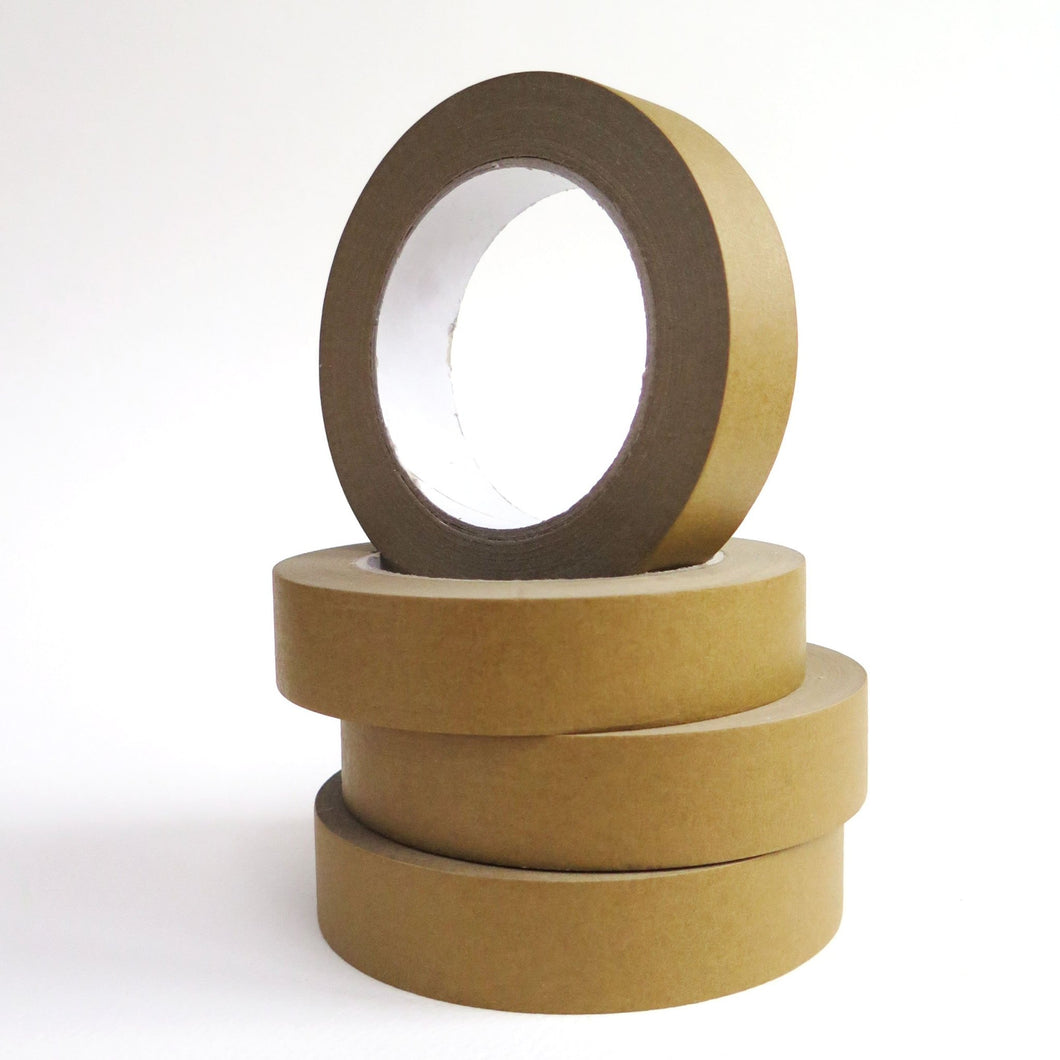 Brown paper sticky tape - 1 roll, 2.5cm wide - jiminy eco-toys