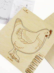 Chicken lifecycle 6-layer wooden puzzle - jiminy eco-toys