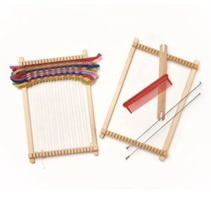 Child's rectangular wooden weaving frame - jiminy eco-toys