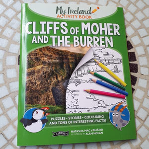 Cliffs of Moher & the Burren - My Ireland Activity Book (by Natasha Mac a'Bháird and Alan Nolan) - jiminy eco-toys