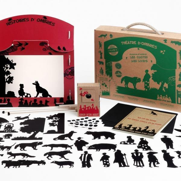 Coco d'en Haut silhouette theatre-to-go: Tales of the Wolves - jiminy eco-toys