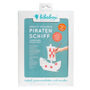 Colour-In 3D Small Pirate Ship - jiminy eco-toys