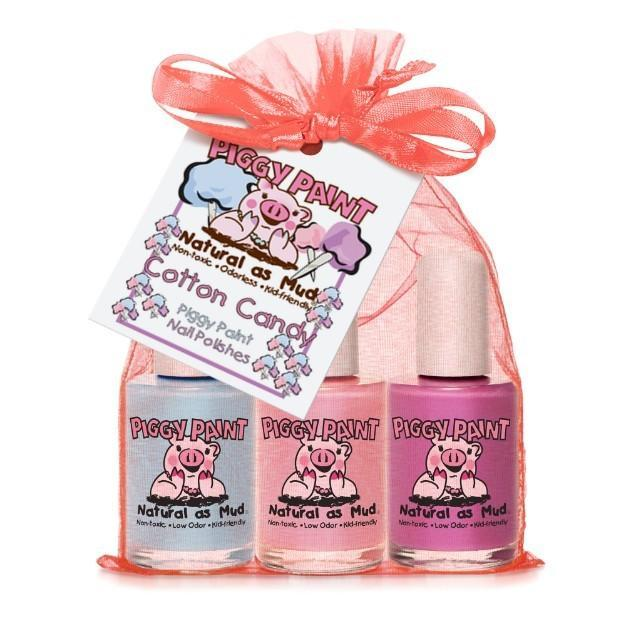 Cotton Candy 3-Piggy-Paints Gift Set (Clouds of Candy, Sweetpea, Fairy Fabulous) - jiminy eco-toys
