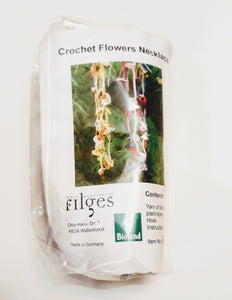 Craft kit: crochet a flower necklace with organic plant-dyed wool - jiminy eco-toys