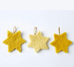 Craft kit: felt your stars - organic plant-dyed sheepswool - jiminy eco-toys