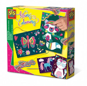 Craft kit: String colouring neon - jiminy eco-toys