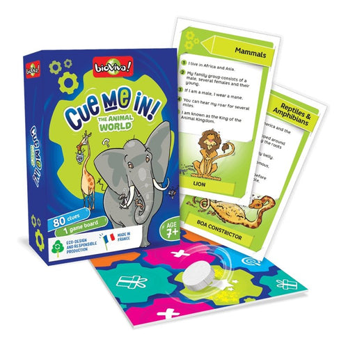 Cue me in - Animal World! A group guessing game for ages 7+ - jiminy eco-toys