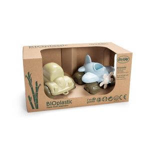 DanToy Bioplastic Plane and Car in a Gift Box - jiminy eco-toys