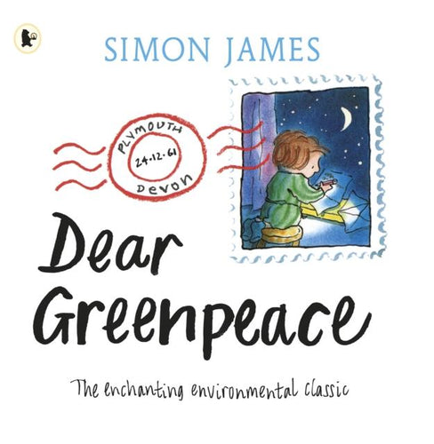 Dear Greenpeace (paperback book by Simon James) MADE FAR AWAY WON'T REORDER - jiminy eco-toys