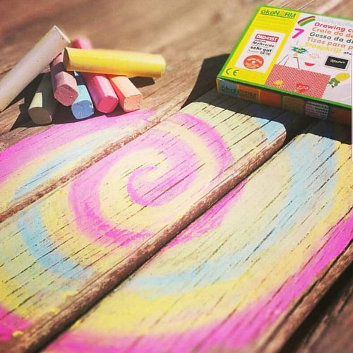 Eco-conscious big chalk 7 colours - jiminy eco-toys
