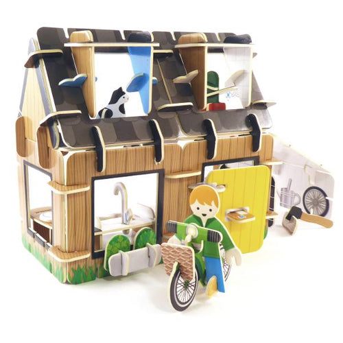 Eco house build and play set - jiminy eco-toys