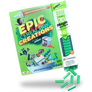 Epic Cereal Box Creations! Book and construction toy - jiminy eco-toys