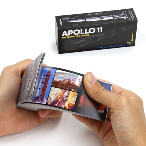 European-made flipbook: Apollo 11 Vol 1 – The Iconic Footage - jiminy eco-toys