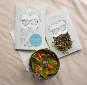 Growing Greeting - Grow Your Beard and Eat It! - jiminy eco-toys