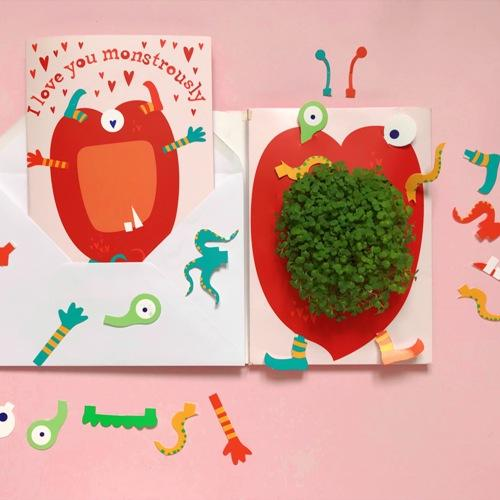 Growing Greeting - Love You Monstrously! - jiminy eco-toys