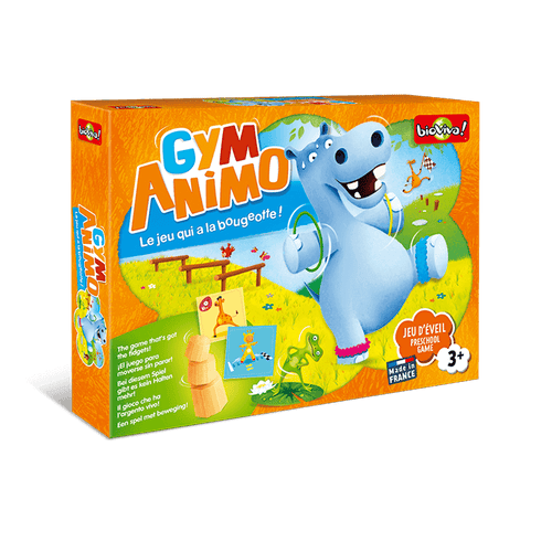Gym Animo - a fun exercise board game for ages 3+ or 5+ (two levels of difficulty in one box)