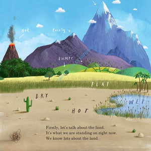 Here We Are: Notes for Living on Planet Earth, paperback book with CD by Oliver Jeffers - MADE FAR AWAY WON'T REORDER - jiminy eco-toys