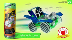 Junko! Working cars and boats from junk! - jiminy eco-toys