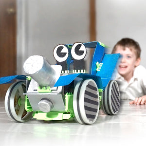 Junko Zoomer: make working cars from junk! - jiminy eco-toys