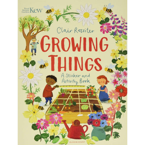 KEW: Growing Things (a paperback sticker and activity book by Rossiter, Clair) - jiminy eco-toys