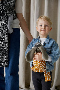 Kids' organic doll wrap-style sling by Coracor - jiminy eco-toys