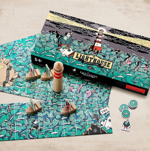 Lighthouse Adventure - a board game for 2-4 players ages 5+ - jiminy eco-toys