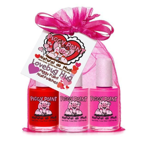 Love Bug Hug 3-Piggy-Paints Gift Set (Sometimes Sweet, Jazz It Up, LOL) - jiminy eco-toys