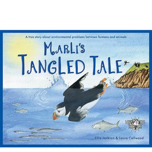 Marli's Tangled Tale: A true story about balloon releases (paperback book by Ellie Jackson) - jiminy eco-toys
