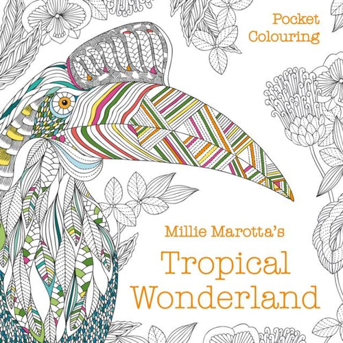 Millie Marotta's Tropical Wonderland Pocket Colouring (a paperback book by Marotta, Millie) - jiminy eco-toys