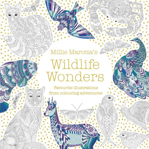 Millie Marotta's Wildlife Wonders (colouring book) MADE FAR AWAY WON'T REORDER - jiminy eco-toys