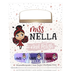 Miss Nella peel-off - You choose 3-nail-polish set - jiminy eco-toys