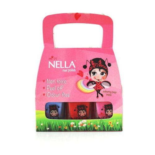 Miss Nella peel-off - You choose 3-polish set - jiminy eco-toys