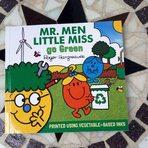 Mr. Men and Little Miss go Green (a paperback book by Adam Hargreaves) - jiminy eco-toys