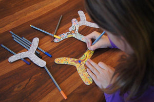 myFibo working colour-in boomerangs - jiminy eco-toys