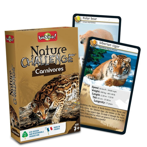 Nature Challenge - Carnivores! A group card game for ages 7+ - jiminy eco-toys