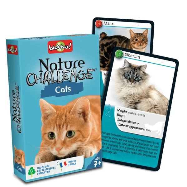 Nature Challenge - Cats! A group card game for ages 7+ - jiminy eco-toys