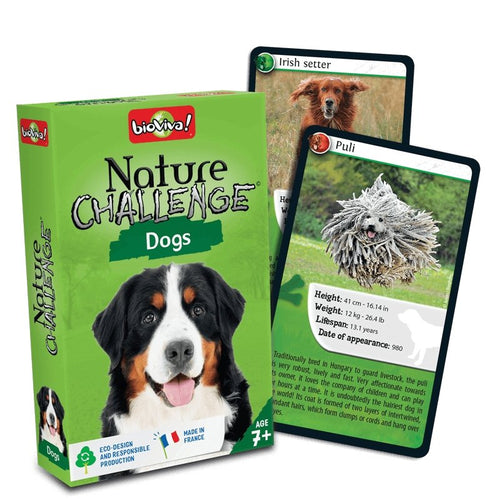 Nature Challenge - Dogs! A group card game for ages 7+ - jiminy eco-toys