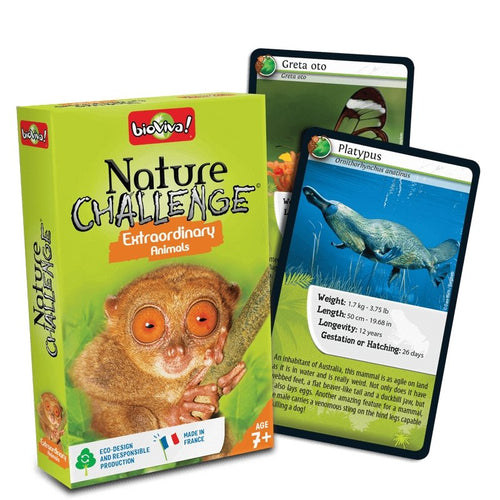 Nature Challenge - Extraordinary Animals! A group card game for ages 7+ - jiminy eco-toys