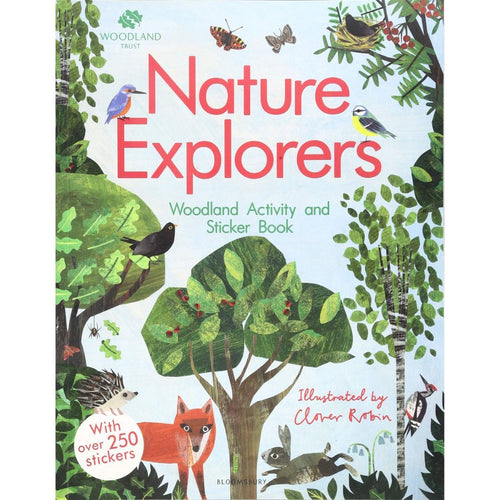 Nature Explorers Woodland Activity and Sticker Book (a paperback book by Robin, Clover) - jiminy eco-toys